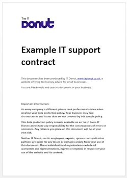 Sample it support contract techdonut for Technical support agreement template