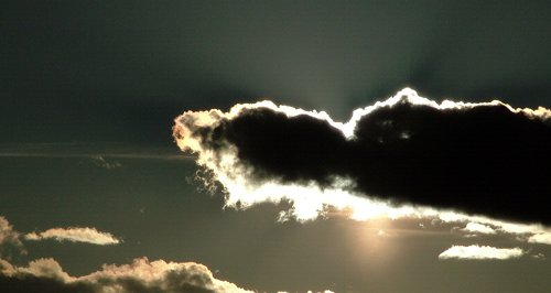 Cloud with silver lining{{}}