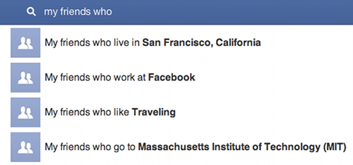 Facebook graph search{{}}