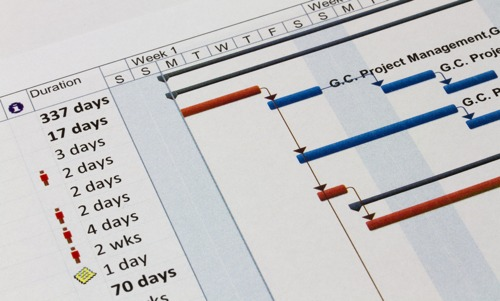 Gantt chart - project management software.