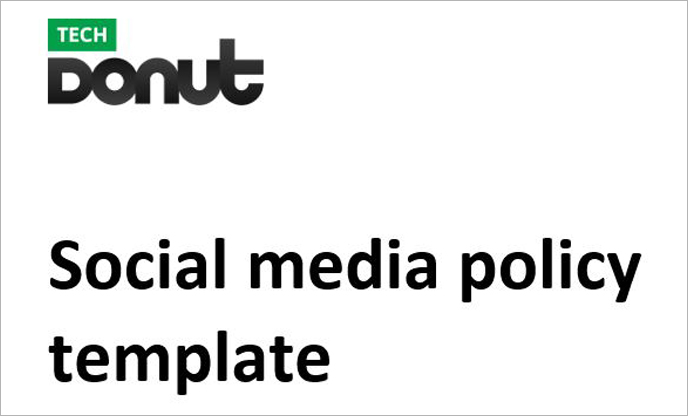 Sample Social Media Policy Template | Tech Donut