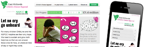The NSPCC's Mobile Website