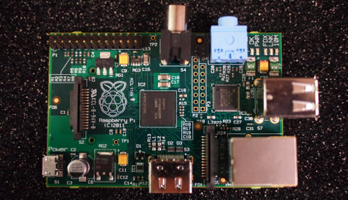 An early version of the Raspberry Pi{{}}