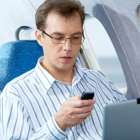 Texting on a plane