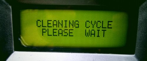 Cleaning cycle screen