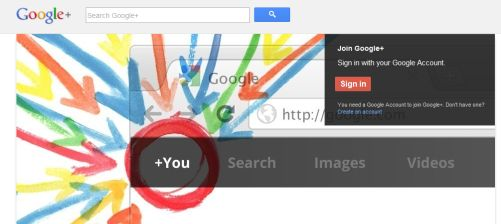 Google+ screenshot{{}}