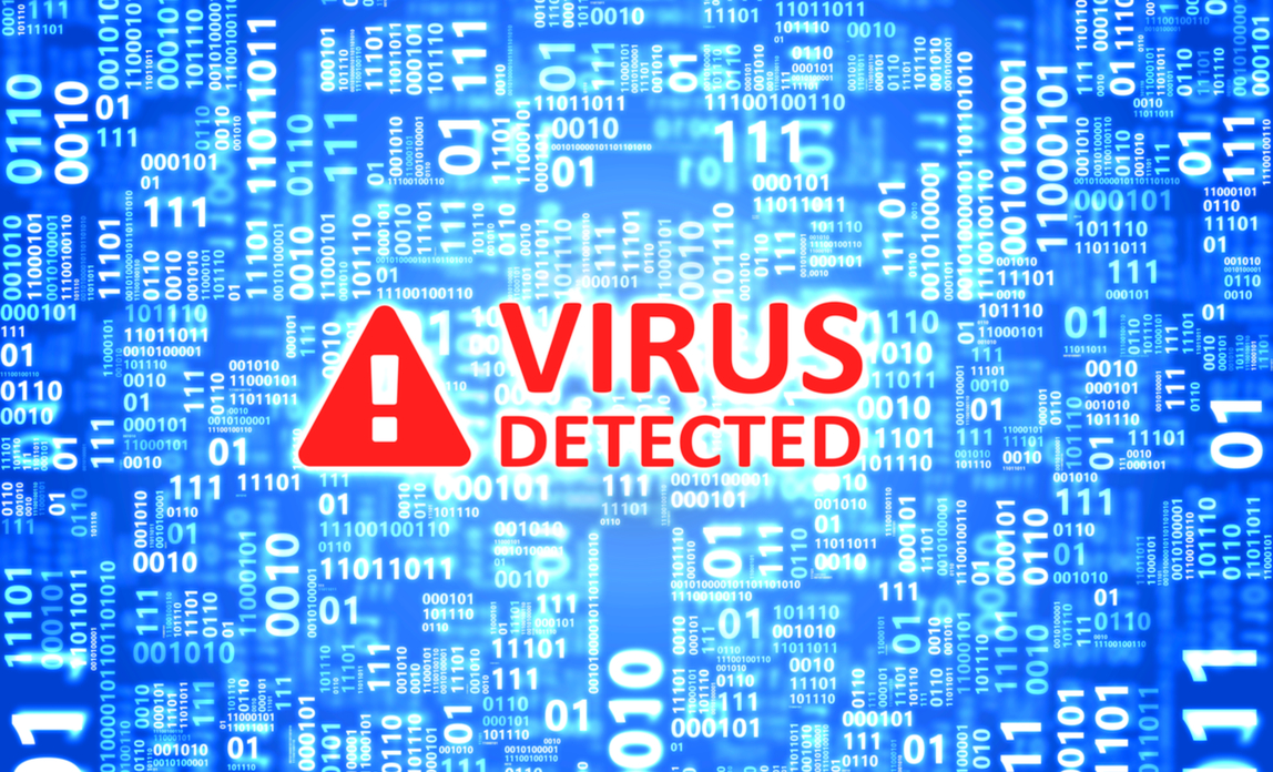 Virus detected graphic - how to choose security and anti-virus software.