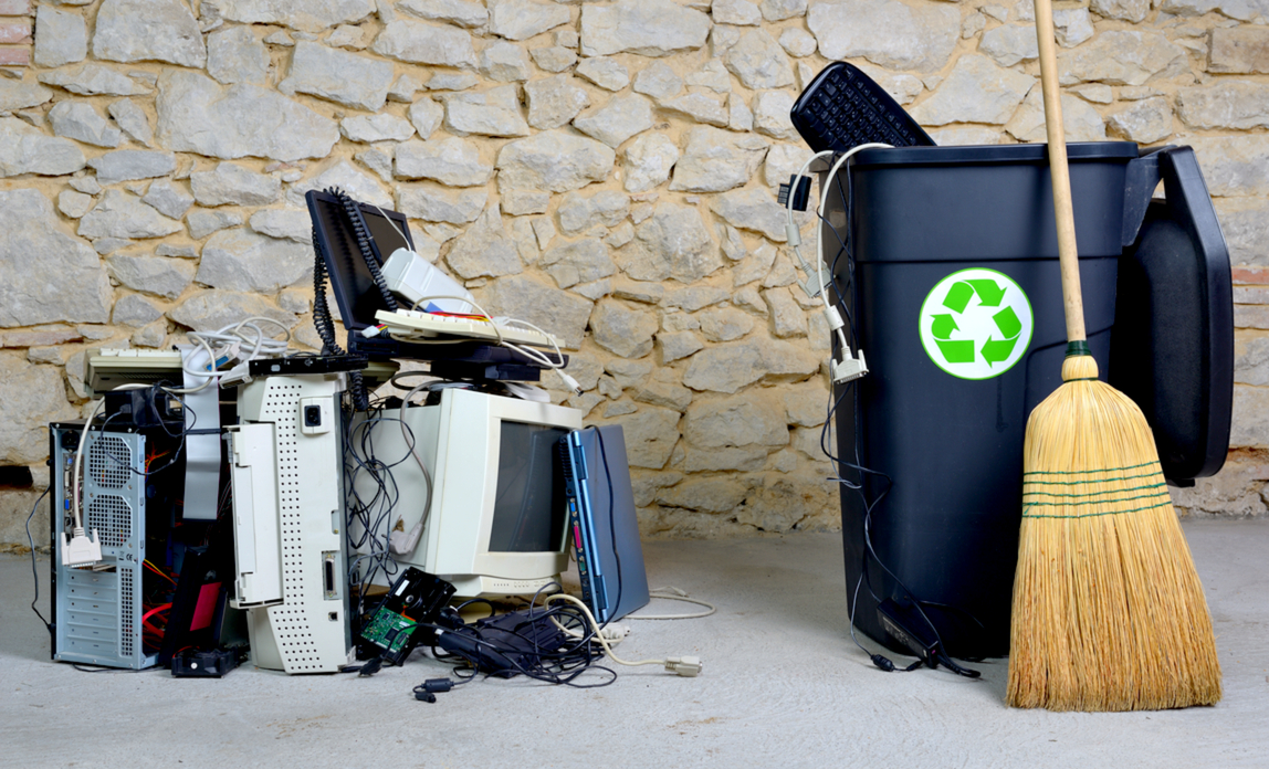 Old computer equipment - how to recycle old IT kit and protect your data.