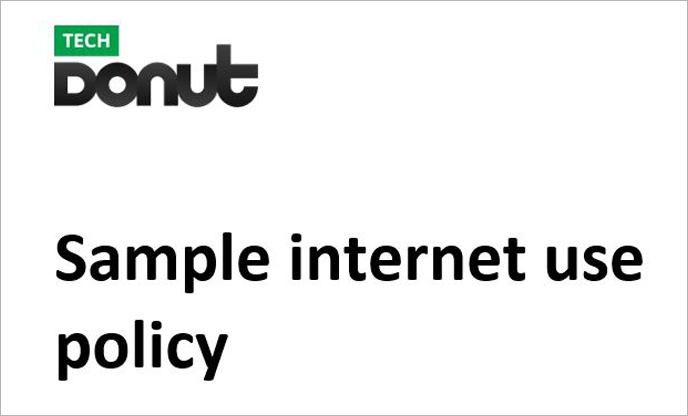 Sample internet use policy