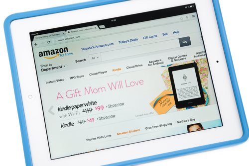 Amazon on tablet{{}}