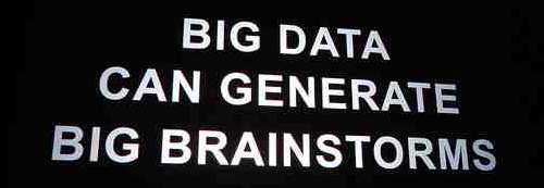 Big data can cause big brainstorms{{}}