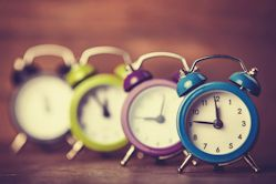 How to delay and email - image of alarm clocks{{}}