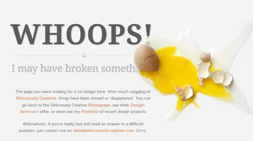 Cracked eggs error page