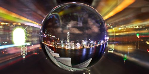 Crystal ball symbolising IT predictions