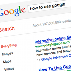 Google screenshot -Google search tip{{}}
