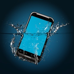 Mobile phone dropped in water