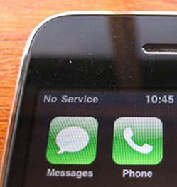 No service message on iPhone
