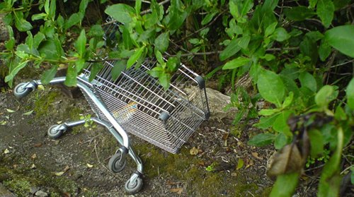 Abandoned shopping trolley{{}}