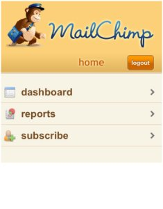 Mailchimp mobile website