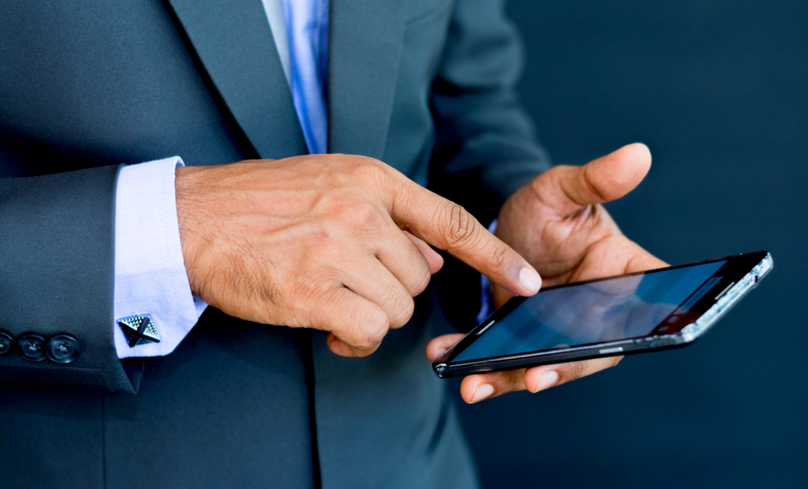 Businessman using a mobile device