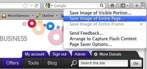Page Saver in action{{}}
