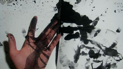 Printer ink spilt