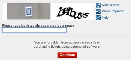 Rubbish CAPTCHA{{}}
