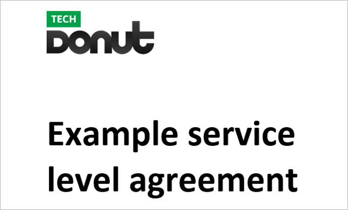 Sample Service Level Agreement Tech Donut