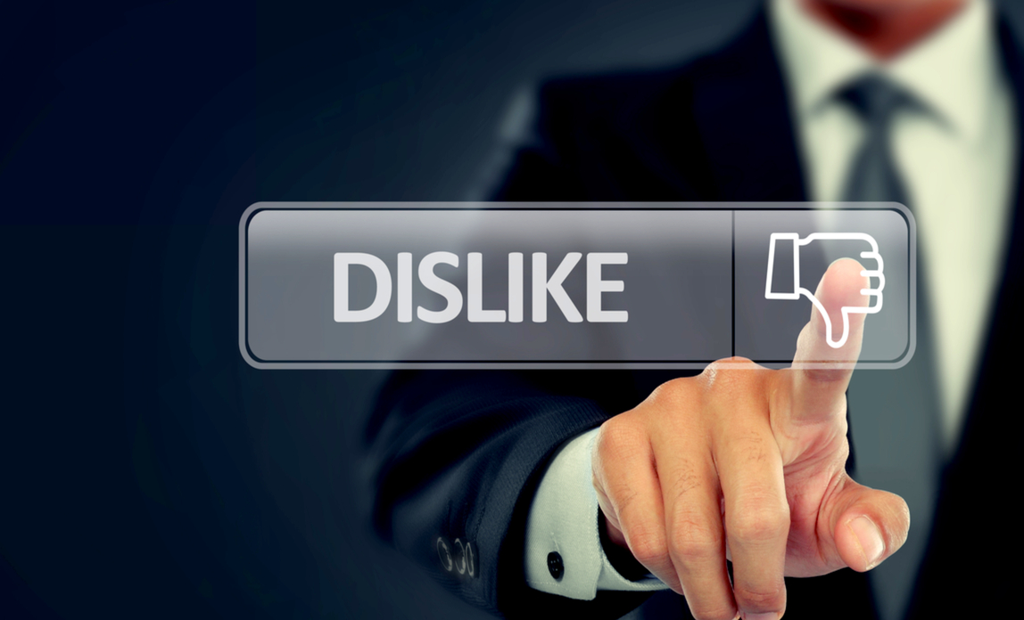 Dislike button - Six unforgivable website sins