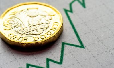 Pound coin on a chart
