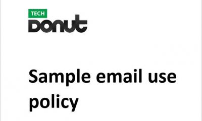 Sample email use policy   Tech Donut