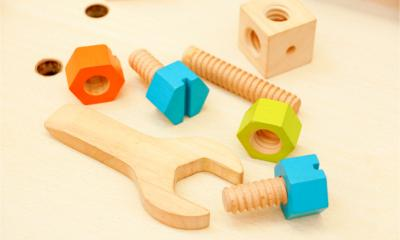 Wooden tools for children representing the start up tools all businesses need