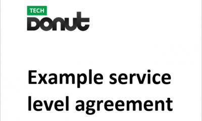Tech Donut's sample service level agreement document