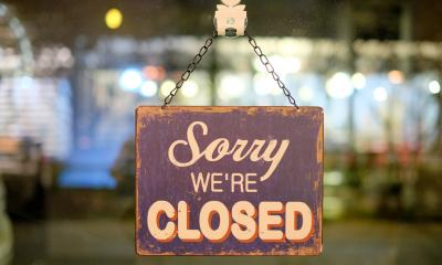 Sorry we're closed note