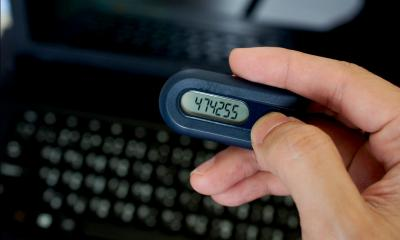 Two factor authentication code is sent to pager device