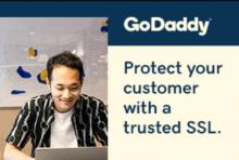 Protect your online customers with an SSL certificate from GoDaddy