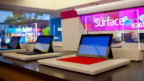 Microsoft Surface in-store display