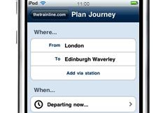 Trainline screenshot