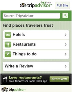 Tripadvisor mobile website