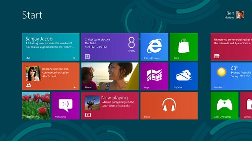 Microsoft Windows 8 screen