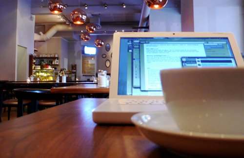 Working in a cafe{{}}